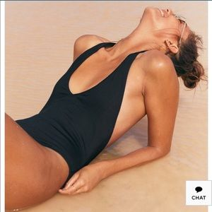 NWT aerie ribbed halter swimsuit